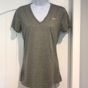 Nike DriFit V-neck Tee Shirt - Size Small